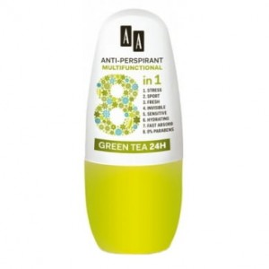 AA 8W1 DEZODORANT W KULCE GREEN TEA 24H 50 ML